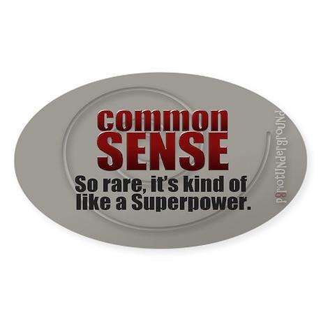 Common Sense Sticker