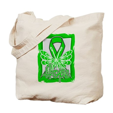 Mental Health Hope Butterfly Tote Bag