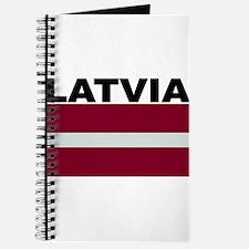 Latvia Flag Journal
