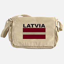 Latvia Flag Messenger Bag