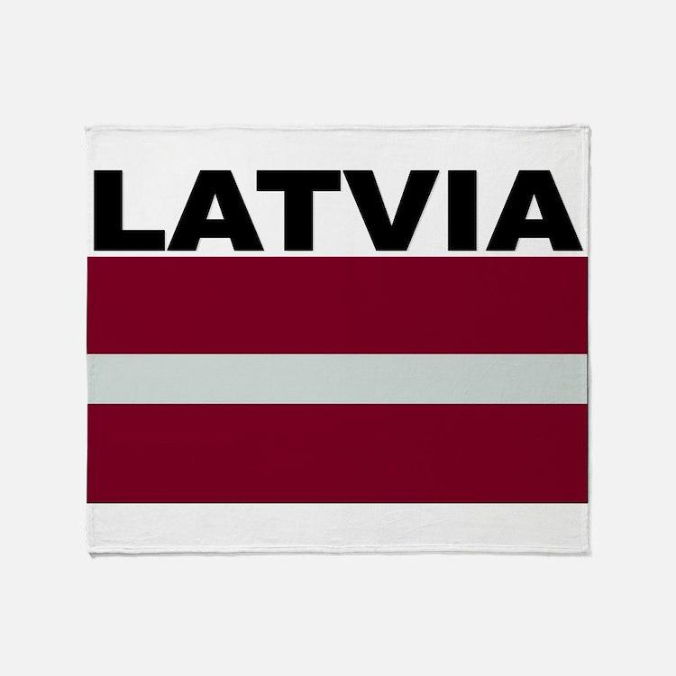 Latvia Flag Throw Blanket