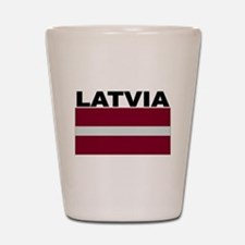 Latvia Flag Shot Glass
