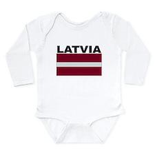 Latvia Flag Body Suit