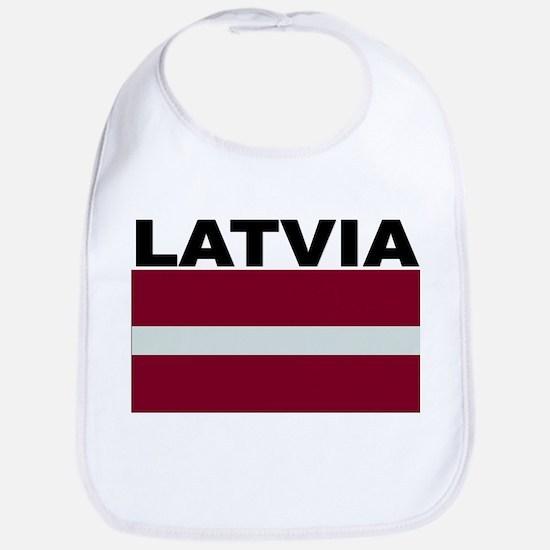 Latvia Flag Bib
