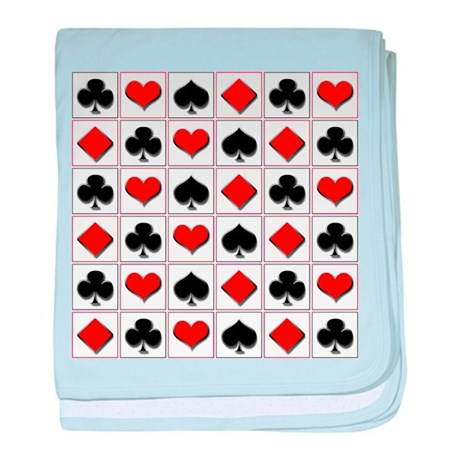 Playing card suits pattern baby blanket