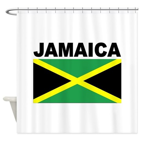 Jamaica flag shower curtain by worldlyflags for Bathroom designs jamaica