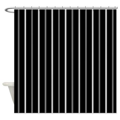39 black pinstripe 39 shower curtain by applepip3