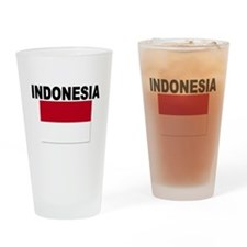 Indonesia Flag Drinking Glass