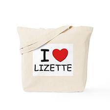 I love Lizette Tote Bag