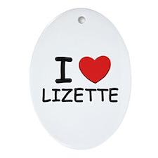 I love Lizette Oval Ornament