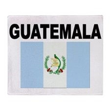 Guatemala Flag Throw Blanket