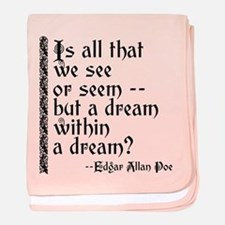 POE A Dream Within baby blanket