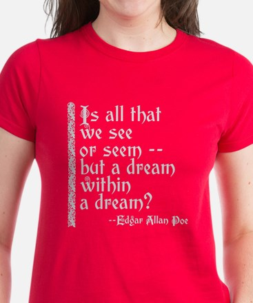 POE A Dream Within Women's Dark T-Shirt