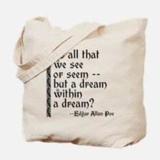 POE A Dream Within Tote Bag