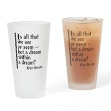 POE A Dream Within Drinking Glass