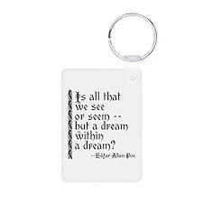POE A Dream Within Aluminum Photo Keychain