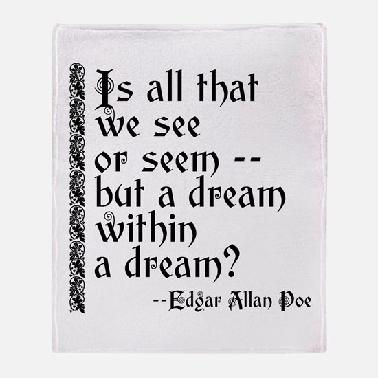 POE A Dream Within Throw Blanket