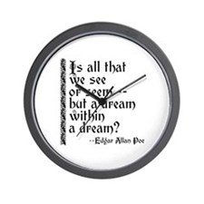 POE A Dream Within Wall Clock