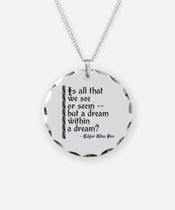 POE A Dream Within Necklace Circle Charm