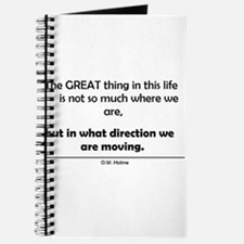 The Great thing in this life Journal