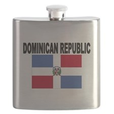 Dominican Republic Flag Flask