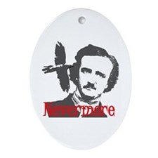 NEVERMORE Edgar Allan Poe Ornament (Oval)