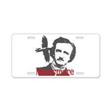 NEVERMORE Edgar Allan Poe Aluminum License Plate