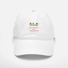 Happy Froggy Christmas Baseball Baseball Cap