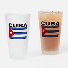 Cuba Flag Drinking Glass