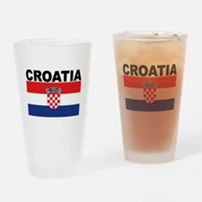 Croatia Flag Drinking Glass