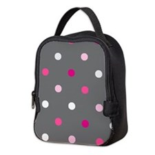 'Gray Dotty' Neoprene Lunch Bag