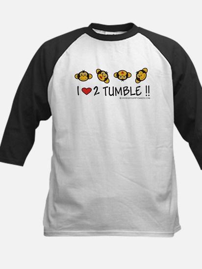 I Love 2 Tumble Kids Baseball Jersey