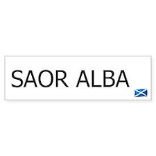SAOR ALBA - FREE SCOTLAND GAELIC Bumper Car Sticker