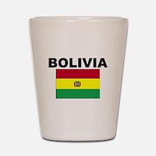 Bolivia Flag Shot Glass