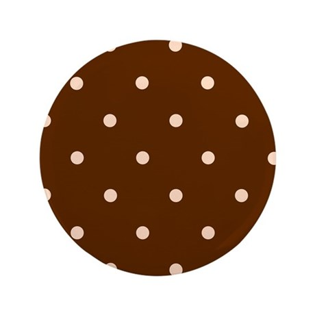 "'Dotty Brown' 3.5"" Button"