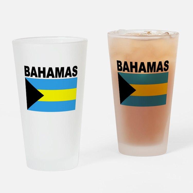 Bahamas Flag Drinking Glass