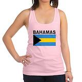 Bahamas flag Womens Racerback Tanktop