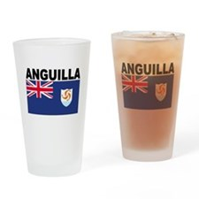 Anguilla Flag Drinking Glass