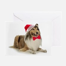 Santa Collie Christmas Cards (Pk of 20)