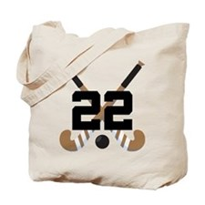 Field Hockey Number 22 Tote Bag