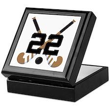 Field Hockey Number 22 Keepsake Box