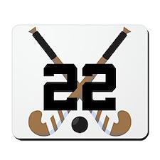 Field Hockey Number 22 Mousepad