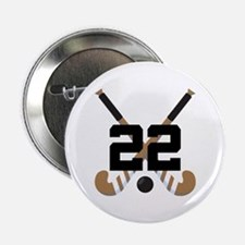 "Field Hockey Number 22 2.25"" Button"