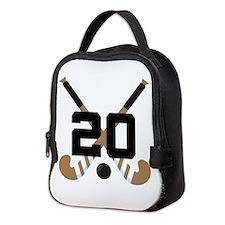 Field Hockey Number 20 Neoprene Lunch Bag
