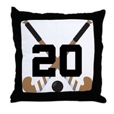 Field Hockey Number 20 Throw Pillow