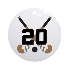 Field Hockey Number 20 Ornament (Round)