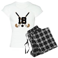 Field Hockey Number 18 Pajamas
