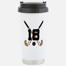 Field Hockey Number 18 Stainless Steel Travel Mug