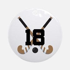 Field Hockey Number 18 Ornament (Round)