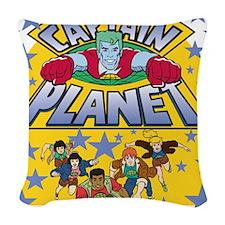 captainplanetone.png Woven Throw Pillow